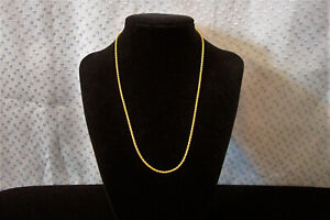 """17"""" GOLD FILLED ROPE CHAIN NECKLACE  2mm MINT"""