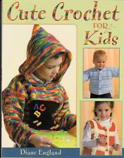 NEW 80 PG. SOFTCOVER CUTE CROCHET FOR KIDS 12 DESIGNS