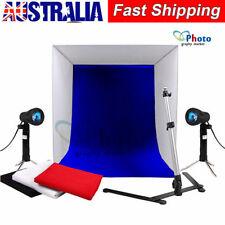 Photography Studio 40cm Cube Lighting Tent Soft Box 4 Color Backdrops Light Kit
