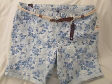 "Ladies ""Gloria Vanderbilt"" Size 22W, Locke Wash (Blue Floral) Joslyn, Bermudas"