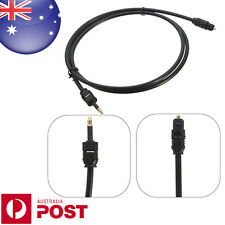 2M Toslink to Mini Plug 3.5mm Digital Optical Fiber SPDIF Audio Cable Lead Z095