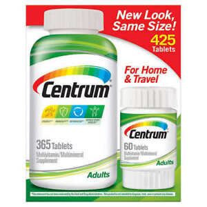 Centrum Multivitamin Multimineral Supplement - 425 Tablets (365 + 60 bonus)