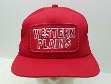 Vintage K BRAND SNAPBACK Hat Cap Western Planes Red Ranch Cowboy