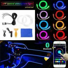 DE Auto LED RGB Ambientebeleuchtung Fußraumbeleuchtung Lampe Lichtleiste 6M 12V