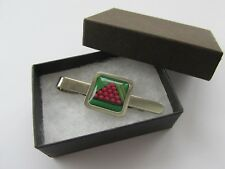 Snooker Mens Sports Inspired Gift - Silver Plated Square Tie Pin Slide Handmade
