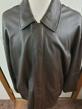 Jos.A.Bank Executive Collection Mens Dark Soft Gen.Leather Jacket Size-XXL