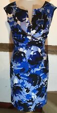 Size 14 Dress Blue Wiggle Pencil Fitted Stretch Sheath by  Donna Ricco