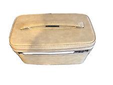 Samsonite Fashionaire 100 Cream Vintage Makeup Vanity Train Case Excellent