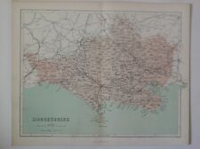 Dorsetshire,  1861 Antique Map, County, Hughes, Atlas
