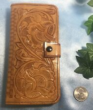 CLEAN Vintage YEO Pure Leather Mexico Billfold Wallet. #6065