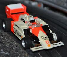 TYCO 440 f1 SHORT NOSE Cancella schermata SHOWA HONDA MARLBORO Arancione #11 HO Slot Car