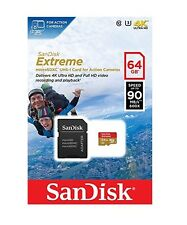 SanDisk Extreme 64GB 90MB/s U3 C10 microSDXC UHS-I Memory Card for Action Camera