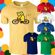 Spotty Pudsey Cycling Kids T Shirt Children In Need Dotty Spot Charity Mens Tee