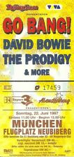 RARE / TICKET CONCERT - DAVID BOWIE THE PRODIGY LIVE A MUNCHEN ( GERMANY ) 1997