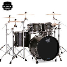 NEW Mapex SATURN V MH Exotic Rock 4pc Drum Set Shell Pack Satin Black Maple