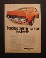 "1970 American Motors AMX Donohue  AMC Javelin *Original*Ready to Display"" ad"