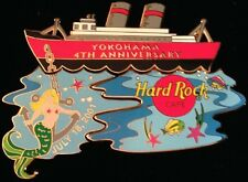 Hard Rock Cafe YOKOHAMA 2001 4th Anniversary 3 Puzzle PINS in BOX - HRC #10626