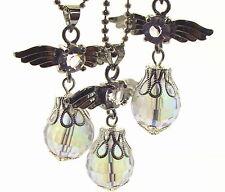Schutzengel inspiriert Opal Aura Quarz Edelstein Kristallanhänger
