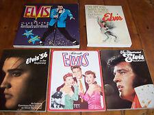 Elvis Presley Books - Private Elvis, Elvis '56, Illustrated Elvis, & Two More