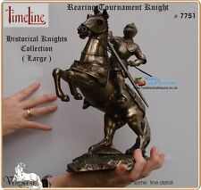 Tournament Knight Resin Bronze by Veronese. Time Line Large Rearing Horse # 7751