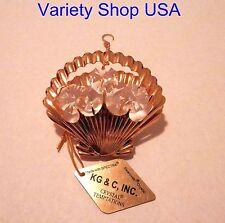Ornament SeaShell 24K Gold Plate Swarovski Crystals 0172 New in Box