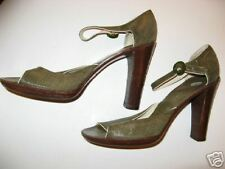MARC JACOBS SHOES GREEN LIZARD MADE IN ITALY 40 US 9 VINTAGE 1980's