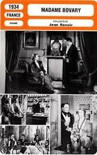 FICHE CINEMA : MADAME BOVARY - Dearly,Tessier,Renoir 1934