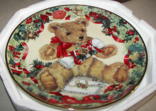 "Franklin Mint 'Teddy's First Christmas"" Limited Edition Collector Plate 8"""