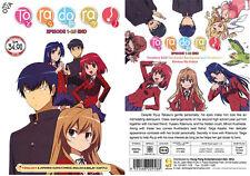 DVD ANIME TORADORA Vol.1-25 End + OVA ENGLISH DUBBED All Region + FREE ANIME