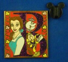 Belle Storybook Initial Mrs Potts Lumiere Cogsworth Disney Pin # 52056