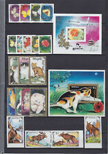 MONGOLIA 1991-1992, FAUNA, 6 SETS + 6 BLOCKS, IMPERFORATED (!), MNH, NOT LISTED!