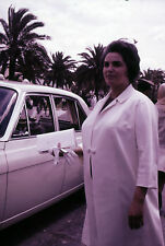 2 Original 35mm Slides 1960s Wassila Ben Ammar Tunisia First Lady