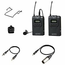 Movo Wireless UHF Lav Microphone System for Canon EOS 70D 7D 6D 5D T6i T5i SL1