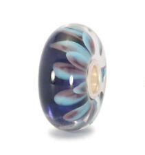 "TROLLBEADS ""Blaue Blütenblätter"", Muranoglas, 925/- Sterlingsilber, TGLBE-10100"