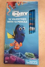 New Disney's Pixar Finding Dory 16 Valentines With 16 Pencils (Ff)