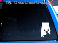 Alabama Deer Hunting State Vinyl Decal Sticker / Color - HIGH QUALITY
