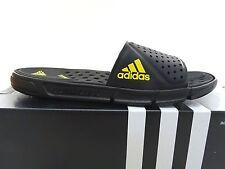 New Men's ADIDAS CC Revo Slide M Q20907 - Black/Yellow Logo - Size 10