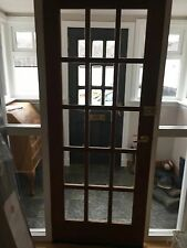 Dark Harwood Solid Wood Internal Fire Doors, hinges & gold handles, 6 available