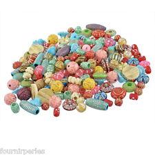 100g Mixte Perles Acrylique Multicolore Motif Ronde Fleur Bijoux Création