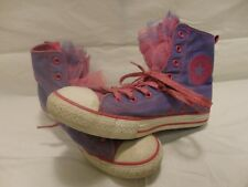 Converse Allstar Purple and Pink High Tops Fishnet Tongues Womens Size 5