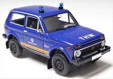 H0 BREKINA Lada Niva 1.7 i Geländewagen Technisches Hilfswerk Blaulicht # 27218