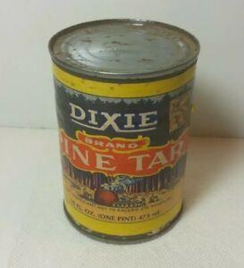 Vintage Dixie Brand Pine Tar, Unopened,  One Full Pint Rust, 16 oz.