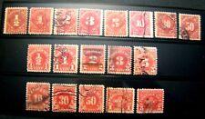 1917=1930 US S# J61-68 & J69-78, Postage Due Set Pair 8v/10v both Used