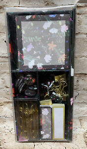 Cynthia Rowley Office Essentials Kit, Gilded Gold Floral Magnets Paper Clips