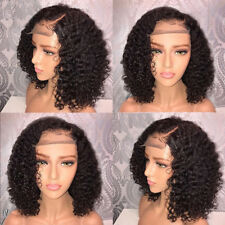 Glueless Curly Short Bob Wig Lace Front Natural Hair Wig Brazilian Full Hair Wig