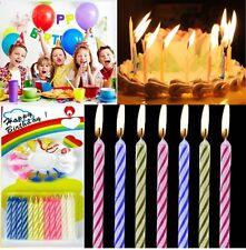 24 Geburtstagskerzen Kerzen Geburtstag Tortenkerzen Kuchenkerzen Halter Party