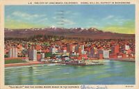 Postcard The City of Long Beach California
