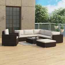 vidaXL Set Muebles de Jardín 8 Piezas y Cojines Ratán Sintético Marrón Hogar