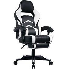 Poltrona/Sedia Gaming o ufficio con braccioli, Mod. GT049 BLACK/WHITE