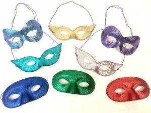 Mascarade Bal Masqué Masque Yeux Adulte Superhéros Paillette Déguisement Couleur